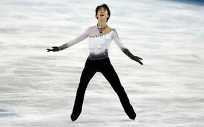 Picture figure skating, Japan, champion, Yuzuru Hanyu, skating