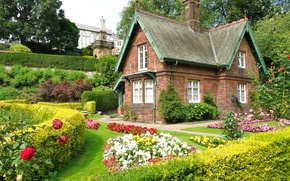 Picture the city, house, style, garden, architecture