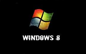 Picture windows, black, background, Windows 8