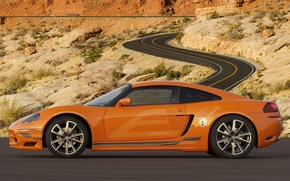 Wallpaper road, desert, cars, roads, deserts, dodge car