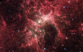 Picture space, stars, the star cluster Eta Carinae, solar wind, our galaxy