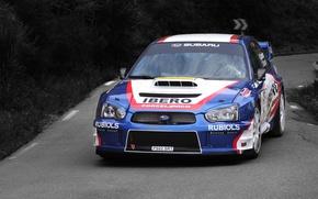 Picture sport, Auto, Blue, Subaru, Impreza, Machine, Race, The hood, WRX, STI, WRC, Rally, The front