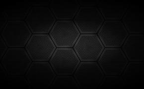 Picture dark, grille, hexagons
