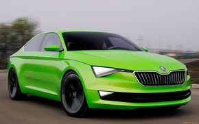 Picture speed, green, Skoda