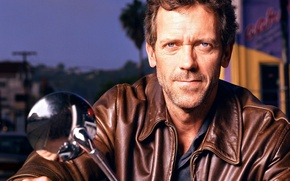 Wallpaper motorcycle, Hugh Laurie, House M.D.