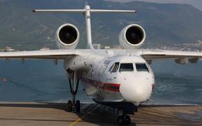 Picture engines, multipurpose, BAA 200ES, amphibian, Beriev. G. M. Beriev, gidropushki, check out the land