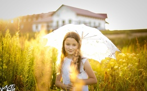 Picture umbrella, girl, Vladimir Smith, Vladimir Smith