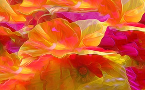 Picture flower, rendering, Mac, petals