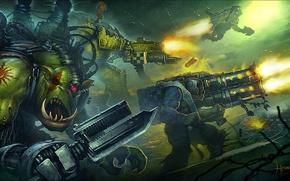 Picture Warhammer 40000, Warhammer 40k, orcs, Eternal Crusade, Xenoy