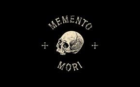 Picture desktop, sake, black, cross, death, bones, wallapers, latin, Latin saying