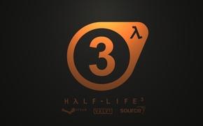 Picture logo, Valve, orange, Half-Life-3
