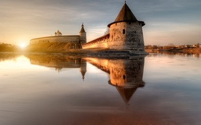 Picture the sun, spring, morning, Russia, Pskov