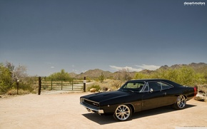Picture 1968, Dodge, charger, muscle сar, cult car, the charger, dodge