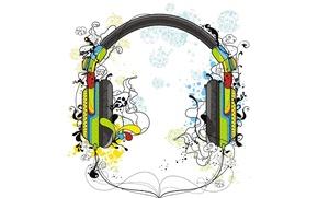 Picture color, music, Headphones