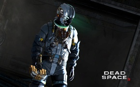 Picture weapons, the inscription, costume, Isaac Clarke, Dead Space 3, Isaac Clarke, Dead space 3