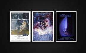 Picture Star Wars, background, movie, poster, original posters, The Empire Strikes, Return Of The Jedi