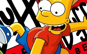 Picture cartoons, Bart, the simpsons
