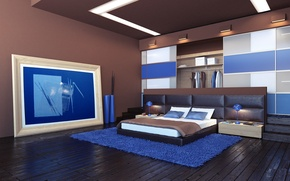 Picture design, style, room, interior, bedroom