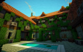 Picture house, texture, patio, minecraft