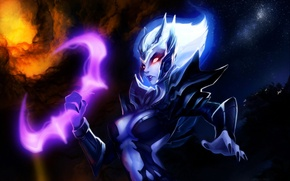 Picture girl, spirit, art, Dota 2, Vengeful Spirit, Shendelzare, GemmaQw
