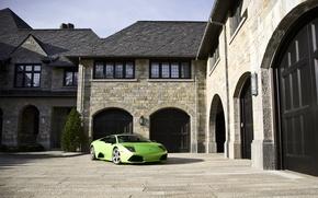 Picture house, supercar, lamborghini