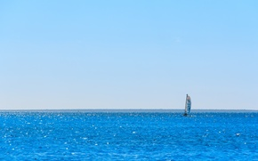 Picture sea, summer, Yacht, sail