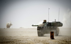 Wallpaper tank, combat, French, main, Leclerc, AMX-56, (OBT)