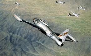 "Picture Lockheed, art, bombers, strategic, figure, fighters, (AIR FORCE KOREA), ""Superfortress"", F-80 Shuting Old, (U.S. AIR …"
