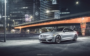 Picture BMW, bridge, Coupe, front, silvery, F82, Ciprian Mihai