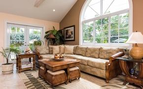 Picture design, style, living room, interior, villa