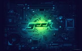 Wallpaper PCB, geek, green