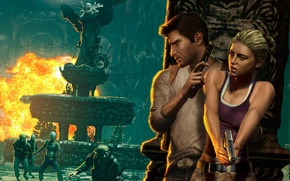 Picture Game, Naughty Dog, Nathan Drake, Uncharted: Drake's Fortune, Elena Fisher