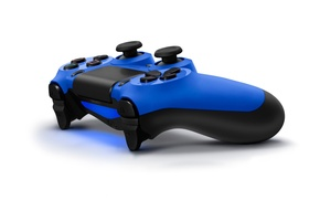 Picture blue, sony, blue, gamepad, playstation, ps4, dualshock 4