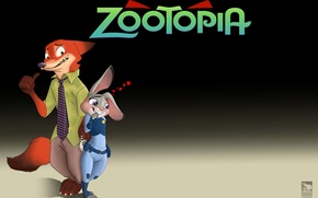 Picture Fox, Cartoon, 2016, Zootopia, Zeropolis, Judy., Nick Wilde, Nick Wild, Judy Hops, Zaychiha