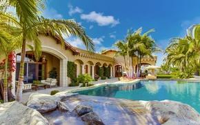 Picture house, Villa, pool, pool, home, villa, Palma.