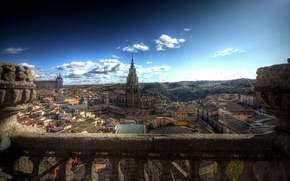 Wallpaper treatment, panorama, Toledo, Spain, Cathedral