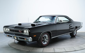 Picture Coronet, Muscle car, background, Muscle car, Dodge, R T, Coronet, Dodge, black, 1969, the front, ...
