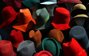 Wallpaper color, hats, background