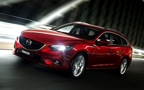 Picture Lights, Night, Red, Machine, Speed, Red, Car, Mazda 6, Car, Speed, Night, Wallpapers, New, The ...