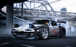 Picture Spoiler, by Khyzyl Saleem, White, Rendering, Mazda, Wheels, Tuning, MX-5