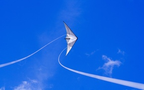 Picture the sky, blue, kite