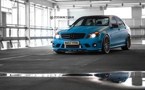 Picture machine, auto, wheels, drives, Mercedes Benz, auto, C Class, Vossen Wheels