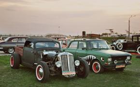 Picture car, retro, Muscovite, hot road, rat road