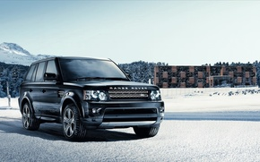 Picture winter, snow, Land Rover, Range Rover