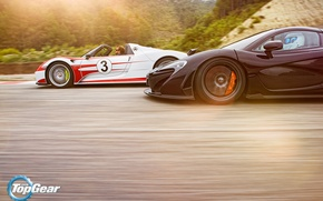 Picture McLaren, Porsche, Top Gear, Speed, Sun, 918, Supercars, Spider