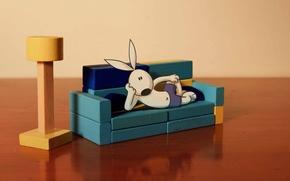 Picture rabbit, dog, Cartoon, Kungfu Bunny