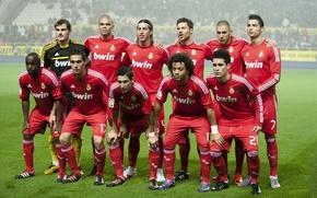 Wallpaper football, Cristiano Ronaldo, composition, Real Madrid