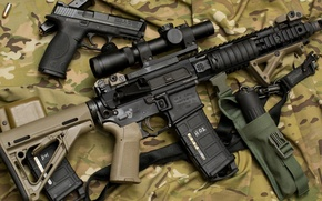 Picture gun, military, ar15, scope, assault rifle, handgun