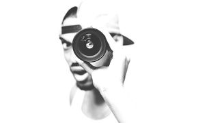 Picture eyes, hat, lips, lens, male, hand, looking