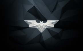 Picture batman, white, emblem, black, bat, paper, gray